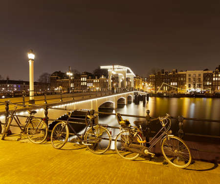 traditionally dutch: Magere Brug (Skinny Bridge),Amsterdam,Netherlands