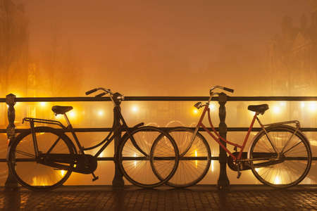 traditionally dutch: Bicycles in Amsterdam,Netherlands LANG_EVOIMAGES