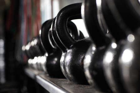 depth measurement: Kettle bells in gym