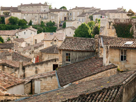 saint: Rooftops of the historic town of Saint Emilion,France