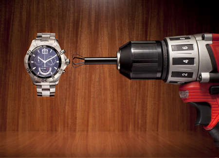 silliness: Using drill to change time on watch LANG_EVOIMAGES