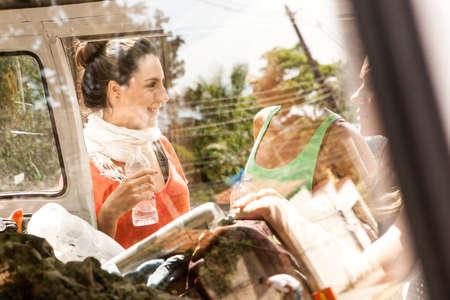 brazilian ethnicity: Friends on road trip