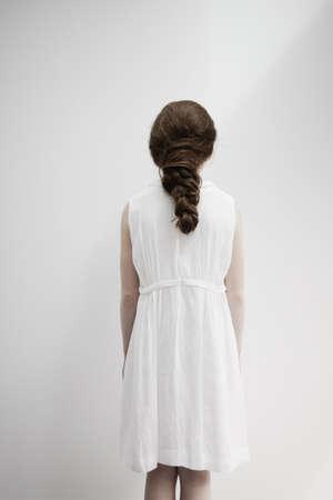 Girl with back facing camera