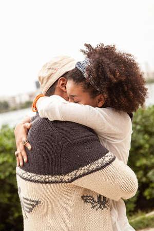 Young couple hugging,Rio De Janiero LANG_EVOIMAGES