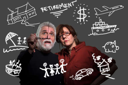 60 65 years: Couple planning for their future in retirement