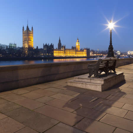 flood area: View of the Houses of Parliament at night,London,United Kingdom