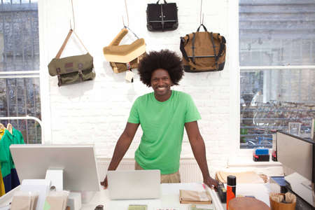 shop keeper: Mature man working in shop