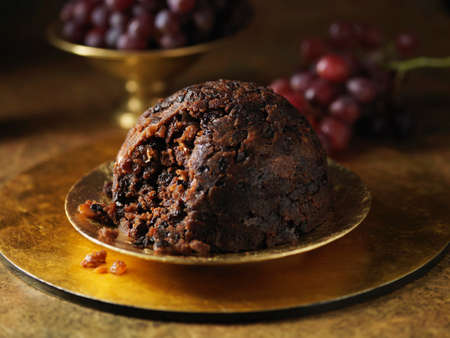 unfit: Christmas pudding with fresh grapes