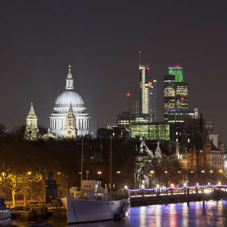 shutter: View of St Pauls Cathedral at night,London,United Kingdom