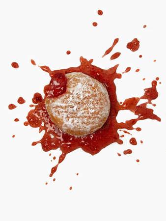 Splattered jam doughnut LANG_EVOIMAGES