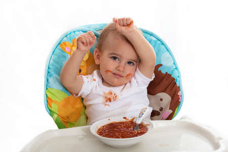 Baby mealtime mess