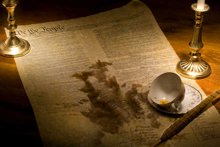 smudge: US Constitution ruined by spilled tea