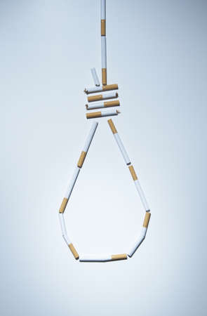 unfit: Hangmans knot made out of cigarettes