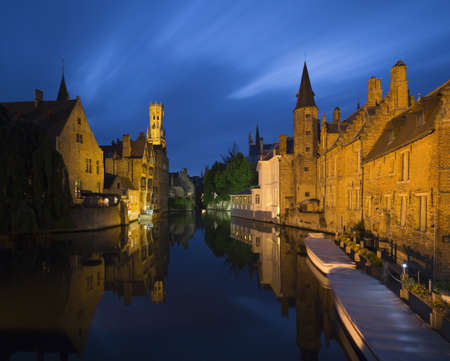 Canals of Bruges and Belfort, Belgium