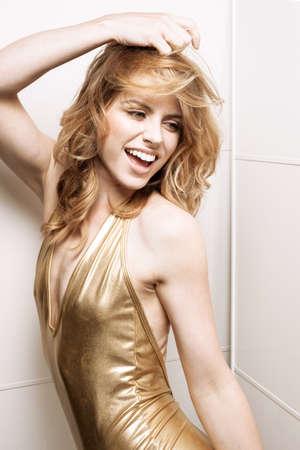 Portrait of young blonde model LANG_EVOIMAGES
