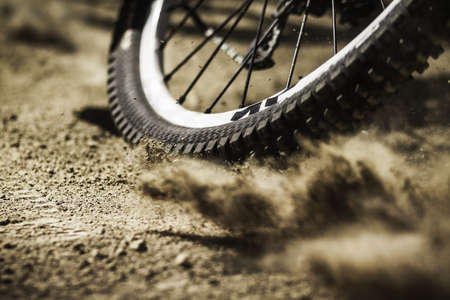 no skid: Bicycle tire,close up