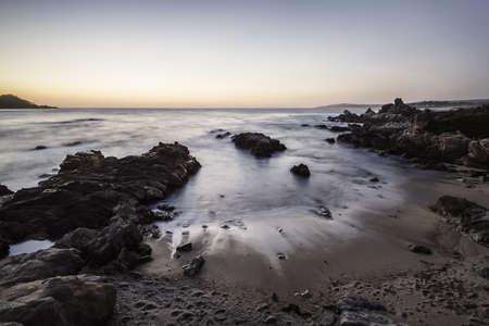 Seascape at sunrise,Monterey Bay area,California,USA LANG_EVOIMAGES