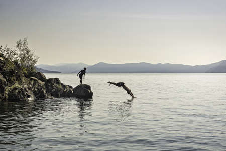 Diving, Sand Point, Idaho, US