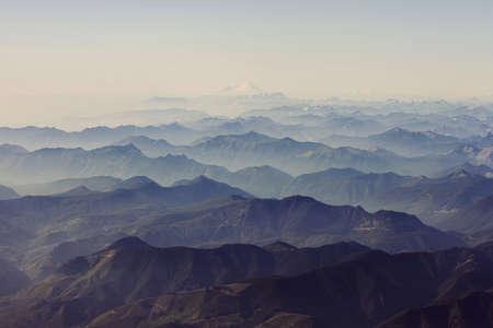 impressed: Misty view of Mount Rainier, Washington State, USA
