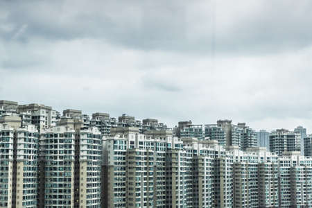 housing lot: Abundance of apartment blocks, Hong Kong, China