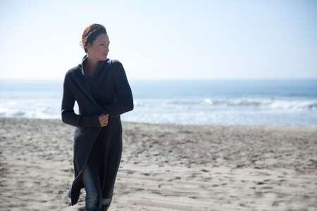 Mature woman on Newport Beach,California,USA