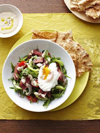 Moroccan Egg Beef Salad