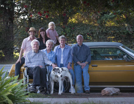 pooches: Three generation family portrait with dog