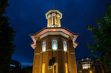 Church tower at night, Craiova, Romania