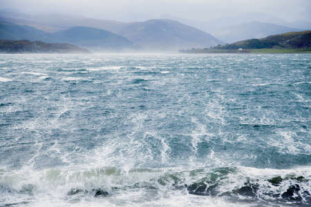 seascapes: Wild winds sweeping across a sea loch, Highland, Scotland
