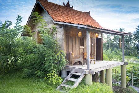 Stilt house holiday apartment with porch, Ubud, Bali, Indonesia