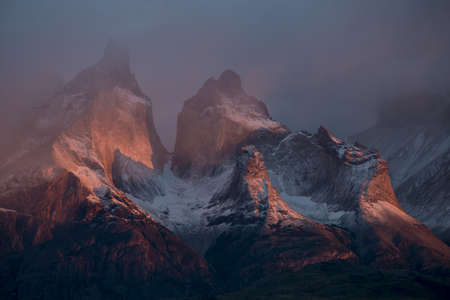 Dawn over Lago Pehoe, Torres del Paine National Park, Patagonia, Chile