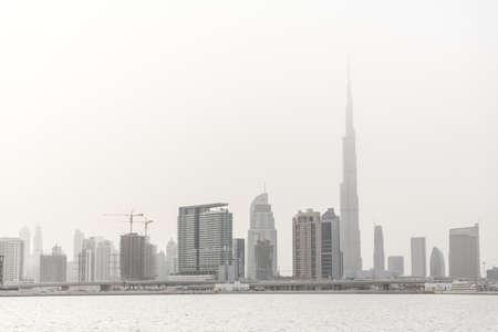 Dubai Skyline with Burj Khalifa, Dubai, UAE LANG_EVOIMAGES