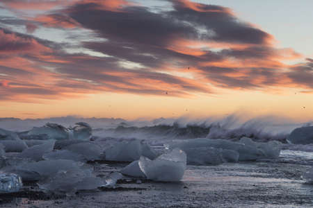 Glacier lagoon, Vatnajokull National Park, Iceland