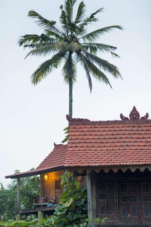 Stilt house holiday apartments with balcony, Ubud, Bali, Indonesia