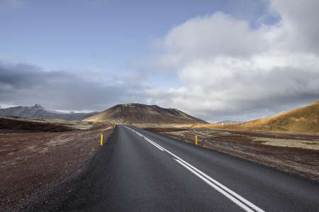 vacant land: Empty highway,Snaefellsnes peninsula, Iceland