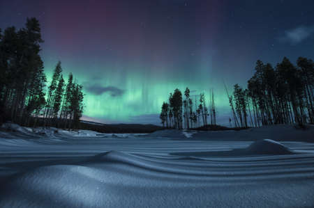 environmental issues: Geomagnetic storm at night, Penticton, British Columbia, Canada