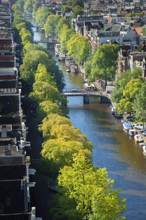 traditionally dutch: Canal and residential district, Amsterdam, Netherlands