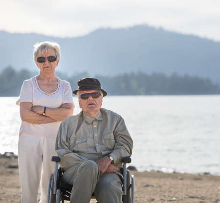 Portrait of senior couple, Big Bear Lake, California, USA