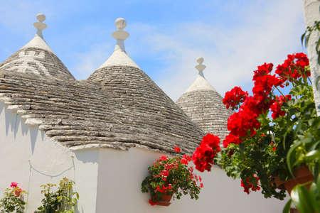Trulli houses in Alberobello, Bari, Puglia, Italy