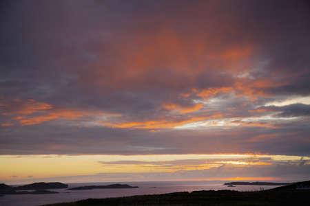 secluded: Sunset over islands, Highland, Scotland LANG_EVOIMAGES