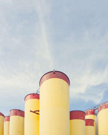 Oil or gas storage tanks, Aberdeen, Scotland