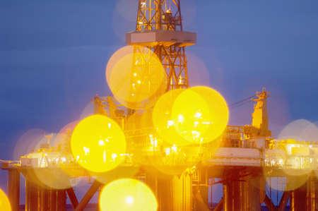 Oil or gas drilling platform, Invergordon, Scotland LANG_EVOIMAGES