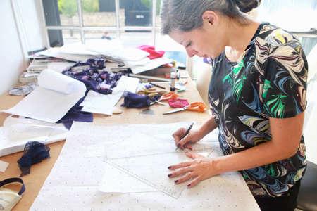 Designer at work in studio