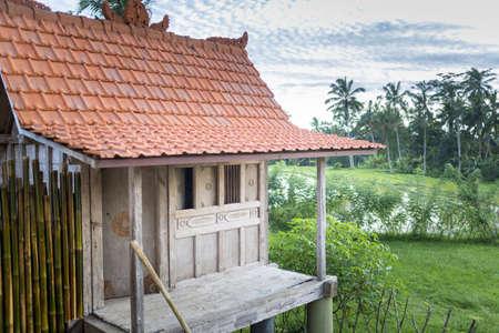 Stilt house holiday apartment with balcony, Ubud, Bali, Indonesia