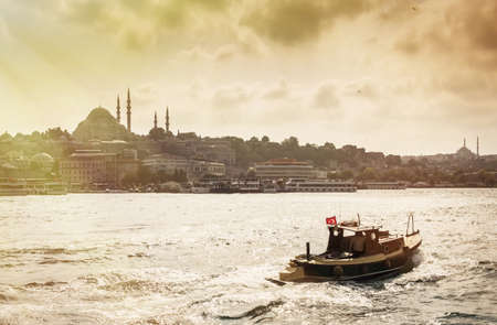 View of the Bosphorus and Hagia Sophia church, Istanbul,Turkey LANG_EVOIMAGES