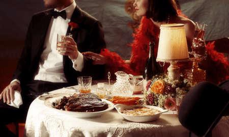 boas: 1920s dinner scene with Cote De Boeuf