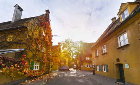 Fuggerei, Augsburg, Bavaria, Germany LANG_EVOIMAGES