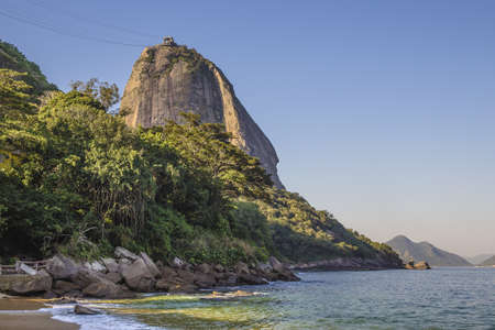 View of beach and sugarloaf mountain, Rio De Janeiro, Brazil LANG_EVOIMAGES