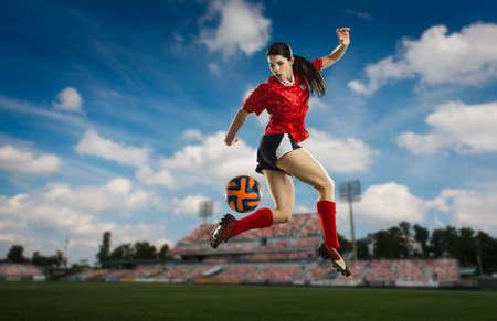 athletic wear: Footballer trying back heel