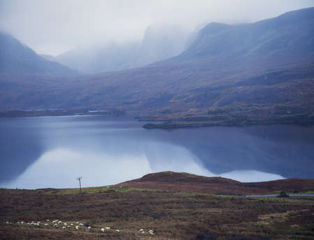 Loch and mountains, Assynt, Scotland